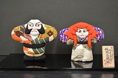 歌舞伎を題材にした「奴凧石橋凧」の古布の木目込み人形・そして物作りの難しさを味わっています