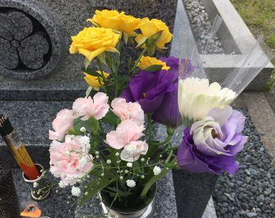 妻の墓参り