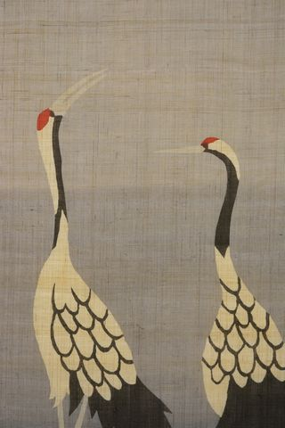 鶴のタペストリー