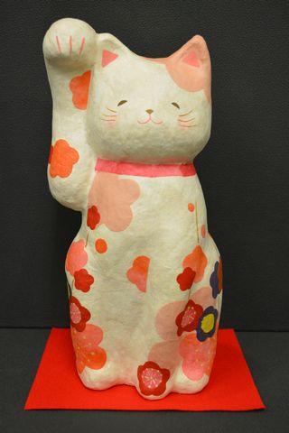 ちぎり和紙招き猫