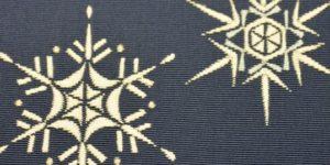 オーダーメイドの雪の結晶柄の袋帯