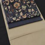 いしげ結城紬を型絵染の帯でコーディネート