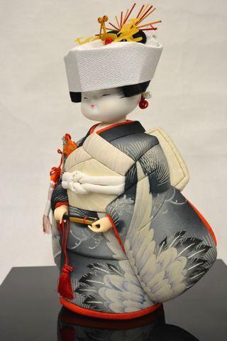 古布の木目込み人形「花嫁さん」