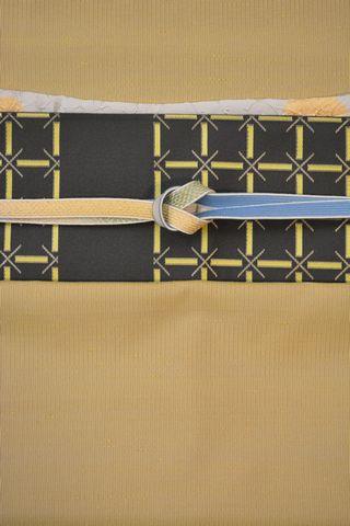 織の牛首紬をコーディネー