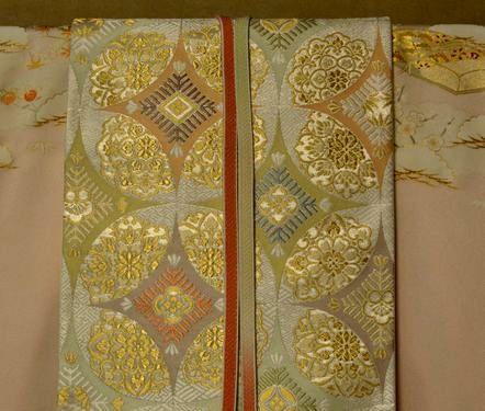 七宝柄の袋帯