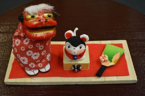 干支の飾り物「戌年のお正月」