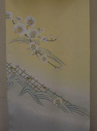 加賀友禅附下「胡蝶蘭」の柄