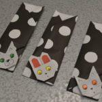 折り紙で作った箸入れ