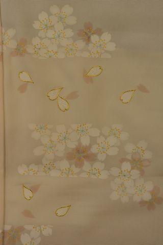 桜柄の訪問着