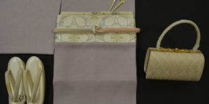 江戸小紋をセミフォーマルの装いに・・・