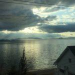 明け方の琵琶湖
