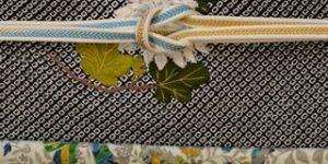 更紗小紋を絞りの帯でコーディネート