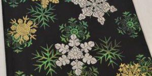 雪の華柄の袋帯