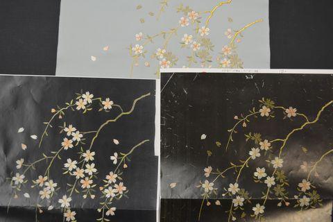 桜柄帯の図案