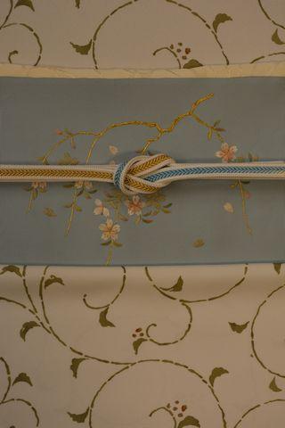 桜柄の帯で着物コーディネート