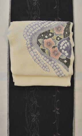 結城紬を絞りの帯でコーディネート