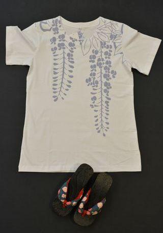 和柄Tシャツ(蔓藤)¥2400