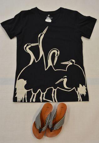 和柄Tシャツ(身寄り鶴)¥2400