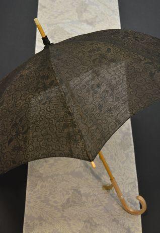 日傘に単衣コート&羽織