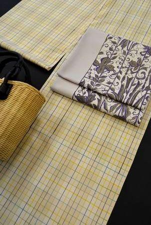 夏牛首紬袋帯で単衣紬をコーディネート