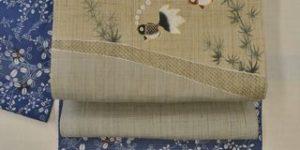竺仙さんの綿紅梅小紋で夏着物