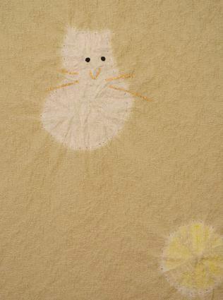 猫柄の絞り小紋