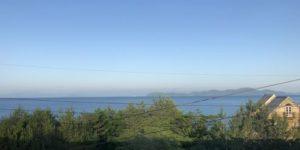 車窓から見た琵琶湖