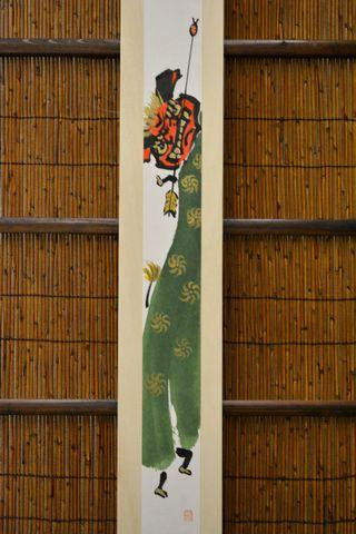 掛板飾り 獅子舞