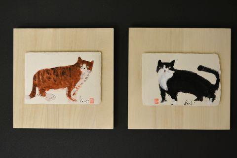 掛板飾り 猫