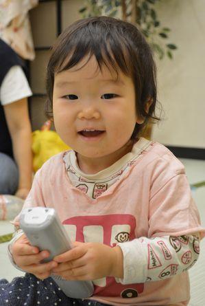 1歳になる孫の奏絵(かなえ)