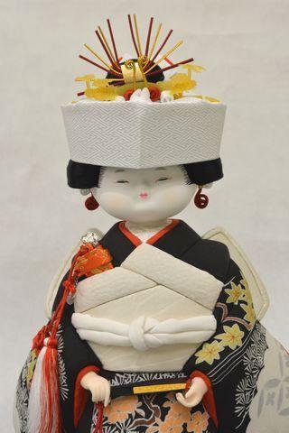 古布の木目込み人形「花嫁