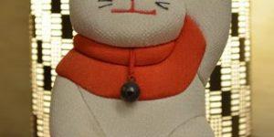 招き猫の木目込み人形