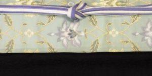 雪兎柄の小紋をコーディネート