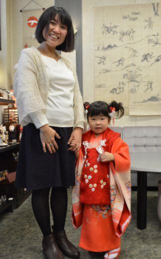 娘と孫のツーショット