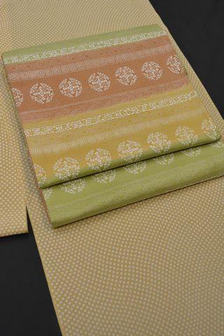 牛首紬のおしゃれ袋帯で着物コーディネート