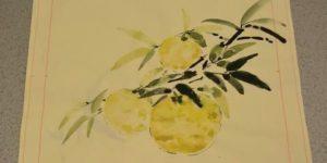 柚子の柄の図案(A)お太鼓柄