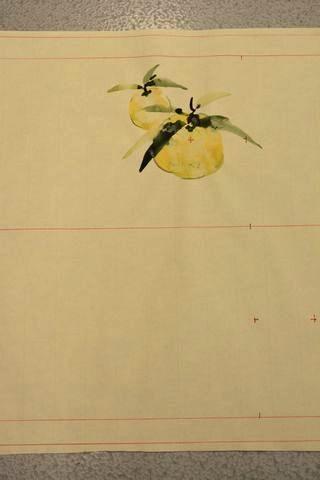 柚子の柄の図案(A)腹の柄