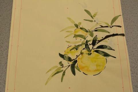 柚子の柄の図案(B)お太鼓柄