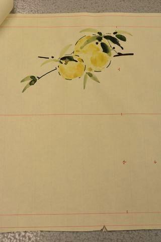 柚子の柄の図案(B)腹の柄