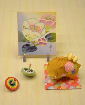 加賀友禅色紙をを使ったお正月飾り