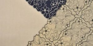 チューリップの刺繍風呂敷