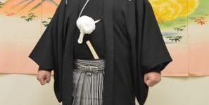 男の成人式・黒紋付に袴