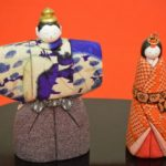 古布使いの立雛木目込み人形