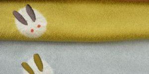 雪兎柄の帯揚げ