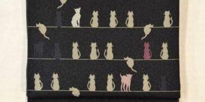猫柄の袋帯