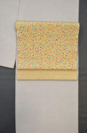 江戸小紋を紬地の染帯でコーディネート