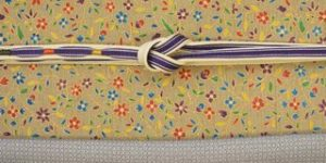 江戸k紋を紬地の染帯でコーディネート