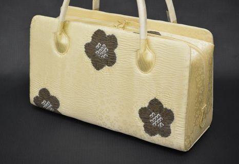 帯揚げで作ったオーダーメイドあおり型バッグ