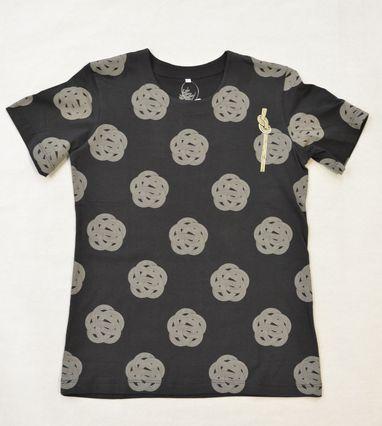 和柄Tシャツ/梅結び(ブラック)¥2,900