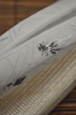 刺繍の麻鼻緒:金魚